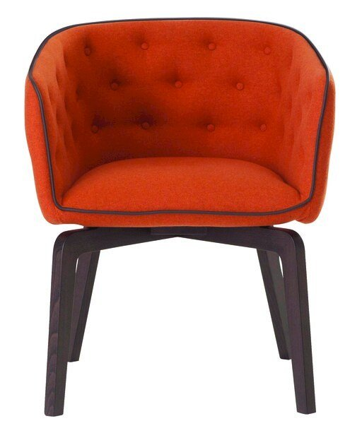 Tufted fabric easy chair QUADRILLE by ROCHE BOBOIS