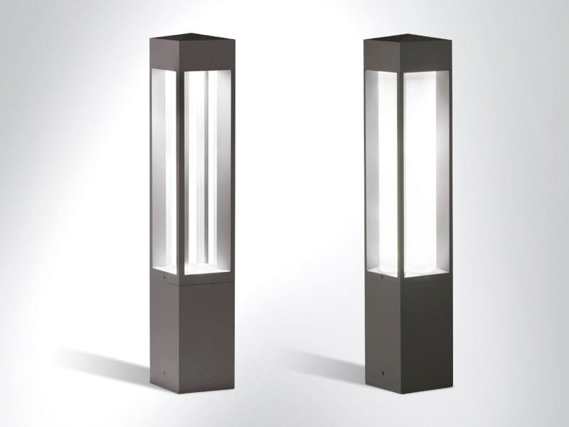 LED die cast aluminium bollard light QUADRIO by Arcluce