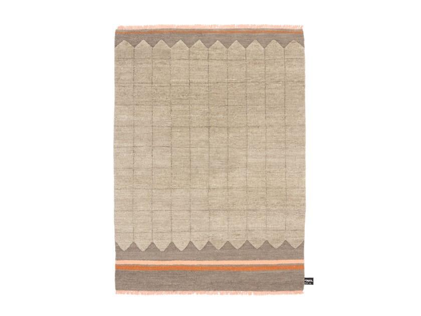 Handmade custom rug QUADRO CELESTE #111 by cc-tapis