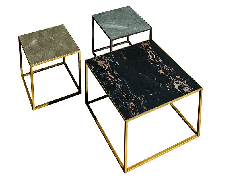 Low square ceramic coffee table QUADRO | Ceramic coffee table by Sovet italia