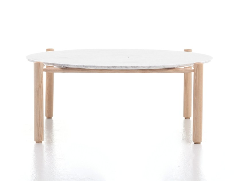 Round marble coffee table QUADRO | Marble coffee table by Cizeta L'Abbate