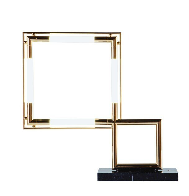 led metal table lamp with dimmer quadro by roche bobois