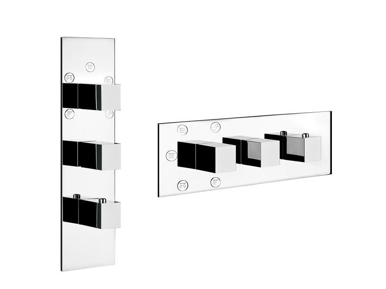 3 hole shower tap QUADRO WELLNESS 43012 by Gessi