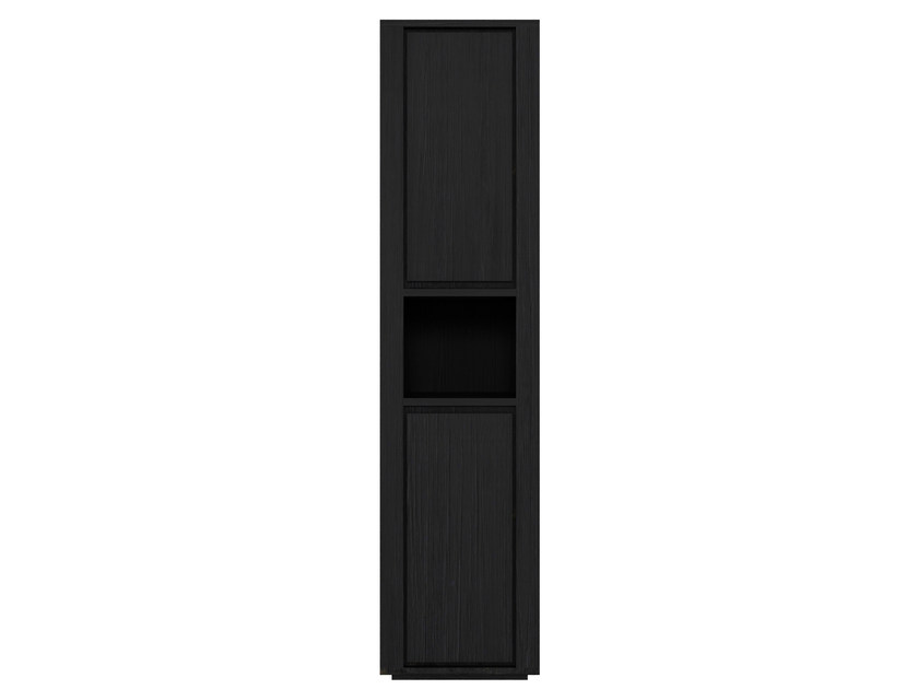Tall bathroom cabinet with doors QUALITIME BLACK | Bathroom cabinet by Ethnicraft
