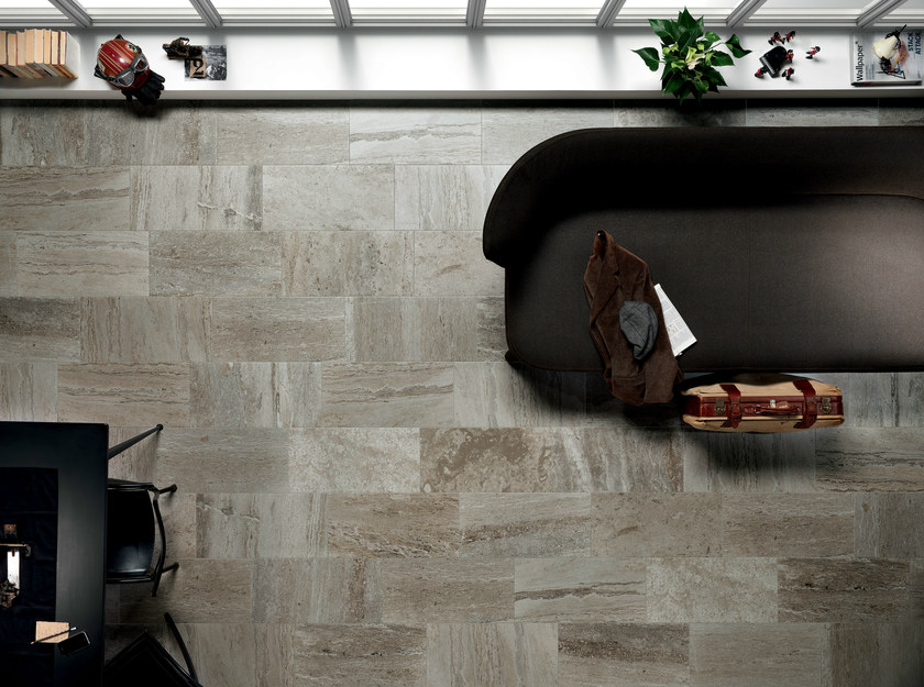 Porcelain stoneware wall/floor tiles with stone effect QUARRY GREY by ASTOR CERAMICHE