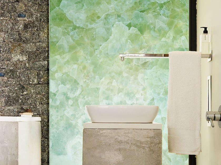 Resin Decorative panel QUARZO VERDE by Tecnografica Italian Wallcoverings