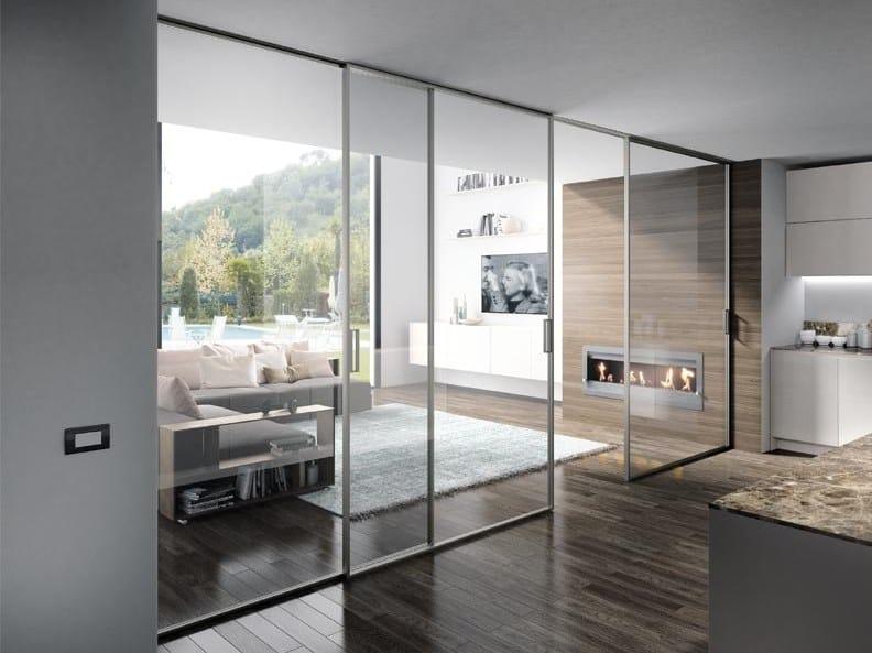 Porta scorrevole in vetro QUASAR | Porta scorrevole by COCIF