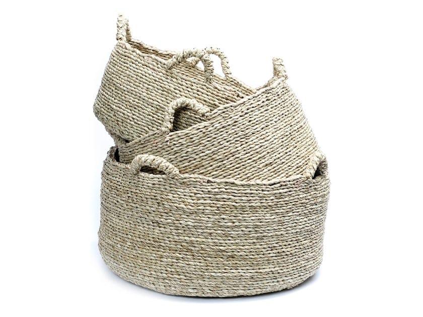 Natural fibre basket QUATRE by Bazar Bizar