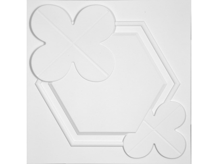 Pannello con effetti tridimensionali per interni/esterni QUATREFOIL by Decor