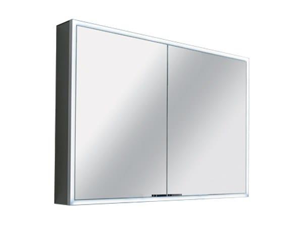 Specchio con contenitore con illuminazione integrata QUATTRO / QUATTRO+ by INDA®