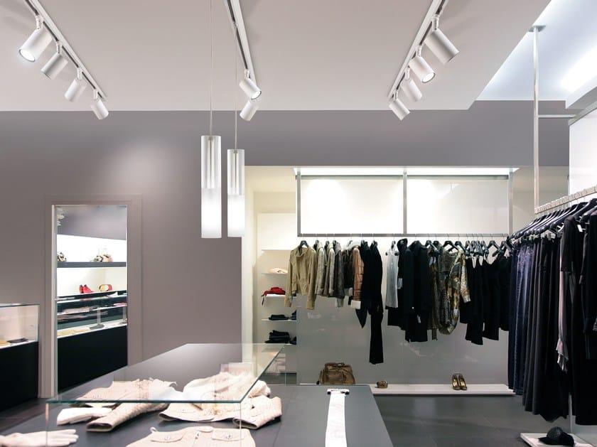 LED aluminium Track-Light QUEENS SPOT by PANZERI