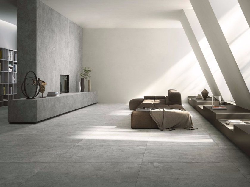 Porcelain stoneware wall/floor tiles with stone effect QUIET NUMB by GranitiFiandre