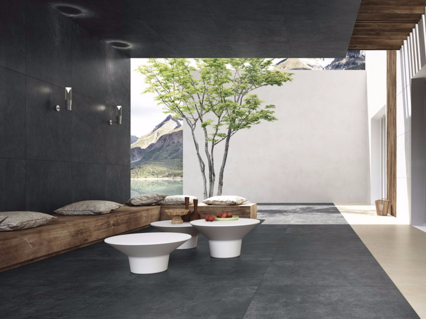 Porcelain stoneware wall/floor tiles with stone effect QUIET ROCK by GranitiFiandre