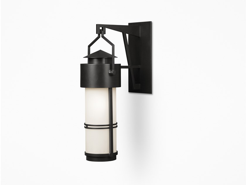 Direct light glass and steel wall light QUILL | Wall light by Kevin Reilly Collection
