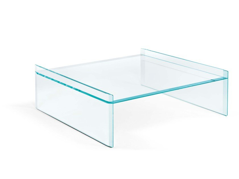 Low square coffee table QUILLER | Square coffee table by Tonelli Design
