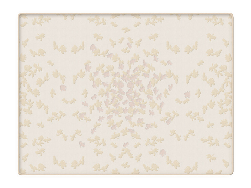 Jacquard cotton quilt with floral pattern BUTTERFLY | Quilt by Sans Tabù