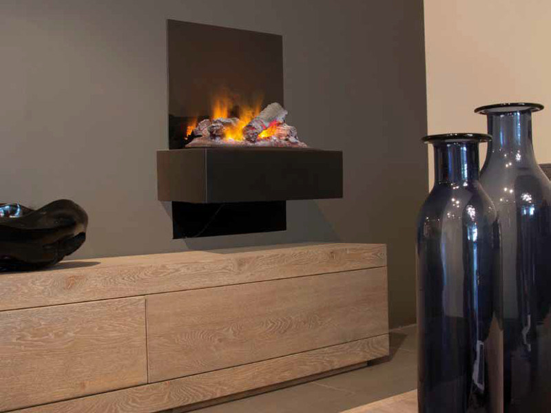 Electric hanging fireplace QUITO SUITE by BRITISH FIRES