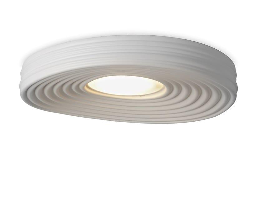 Plafoniera a LED in gesso R.O.M.A. by Karman