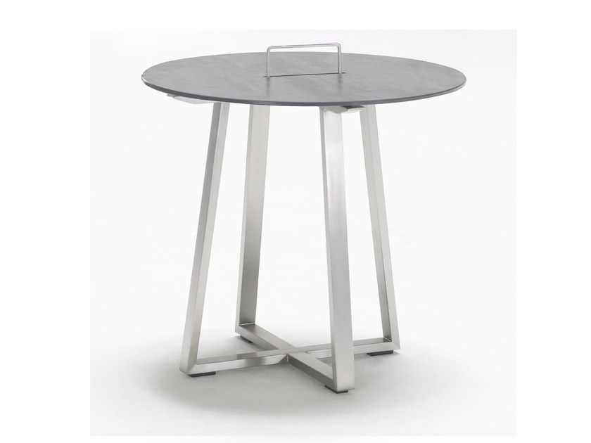 Round ceramic garden side table R-SERIES | Round coffee table by solpuri