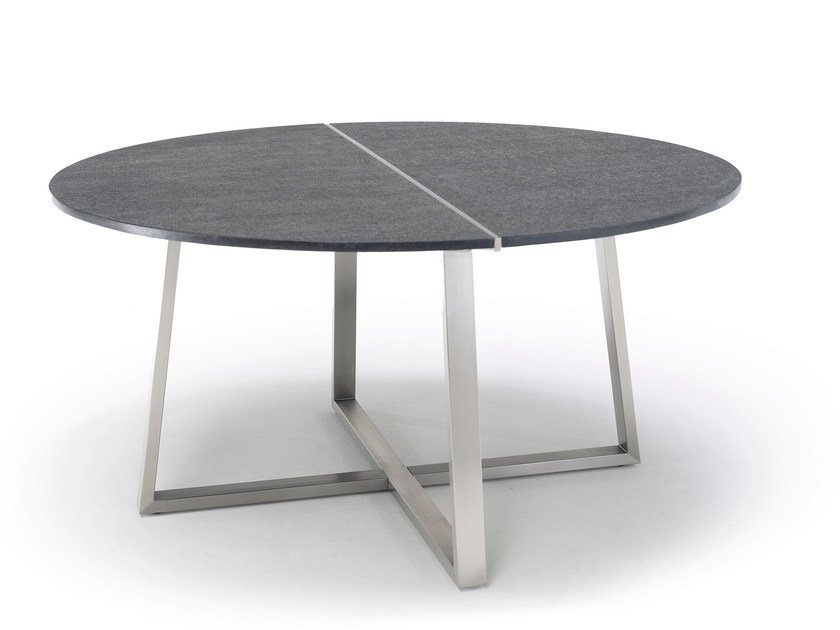 Round ceramic garden table R-SERIES | Table by solpuri