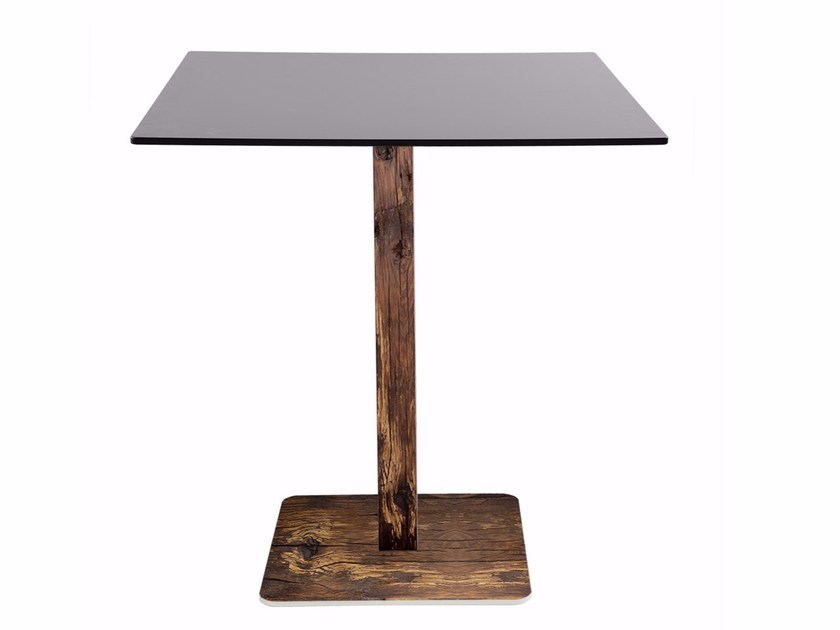 Square steel contract table R30 | Square table by Vela Arredamenti