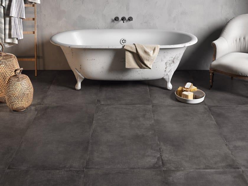 Pavimento in gres porcellanato effetto pietra RA-KU DARK by La Fabbrica
