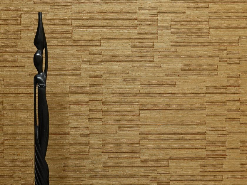 Solid-color wallpaper with textile effect RABANE by LELIEVRE