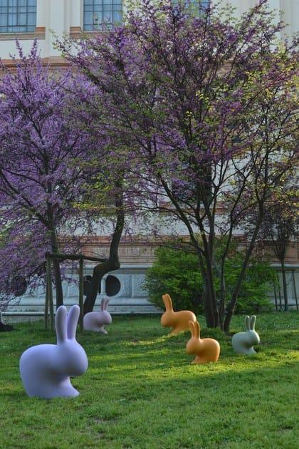 RabbitSedia Giardino Da Polietilene In Qeeboo JTFl3Kc1