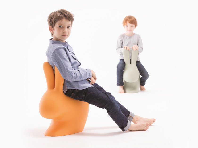 Polyethylene kids chair RABBIT BABY by Qeeboo