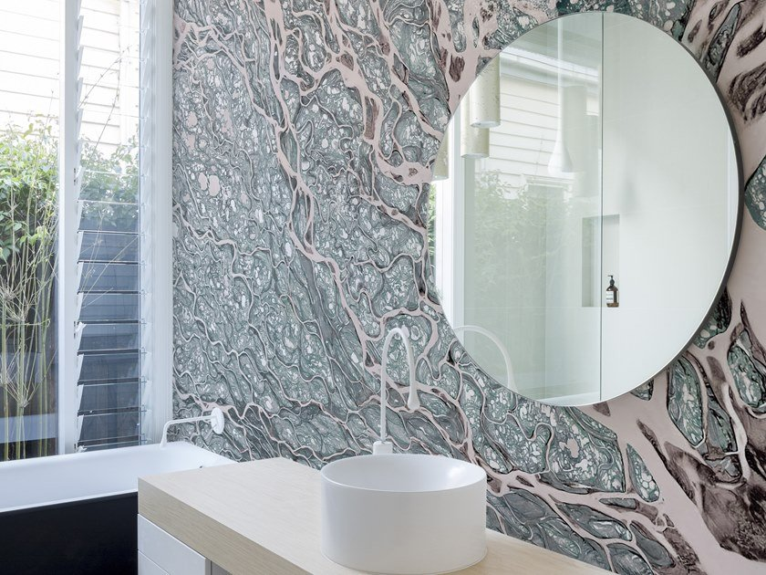 Bathroom wallpaper RACINE by Wall&decò
