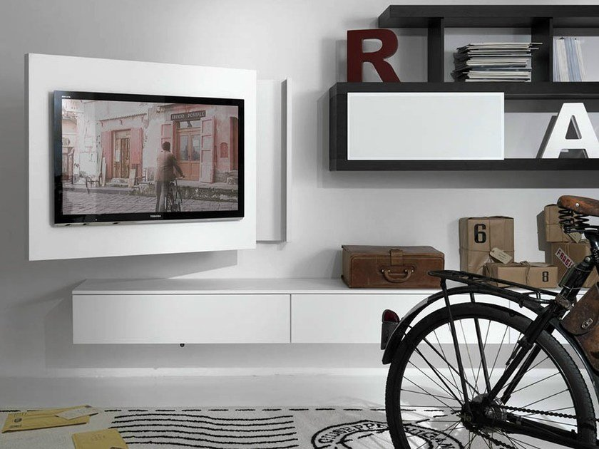 Porta Tv Rack.Lacquered Adjustable Wall Mounted Tv Cabinet Rack Free