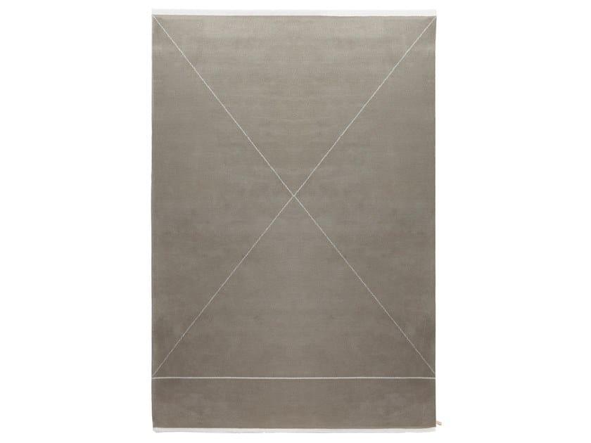 Handmade rectangular wool rug RADICALE by Porro