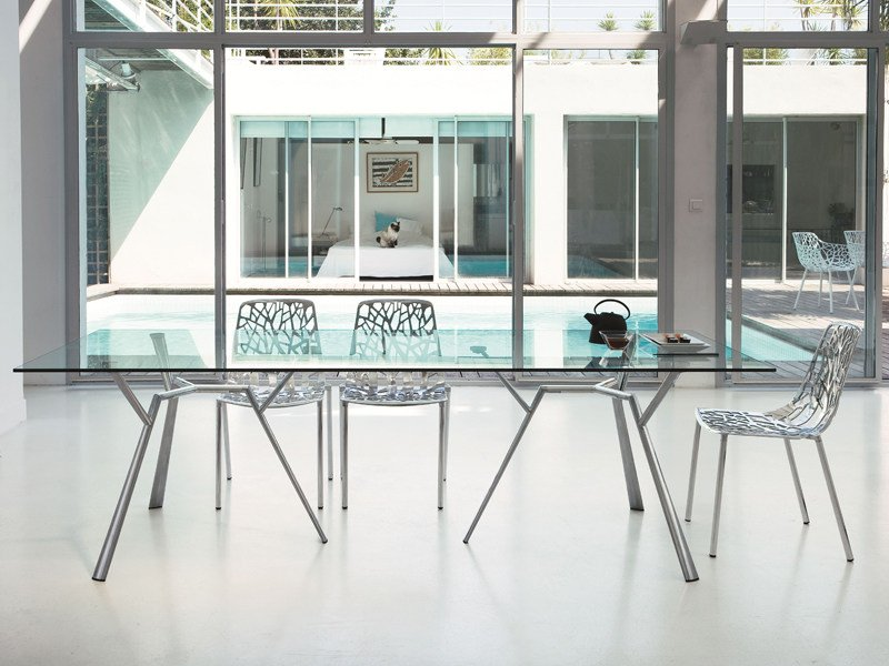 Rectangular crystal table RADICE QUADRA | Table by FAST