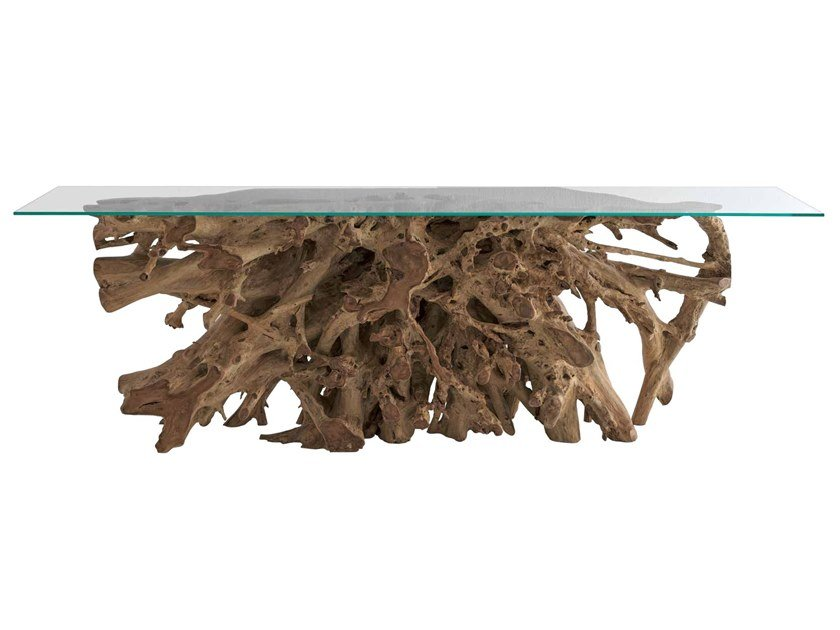 Rectangular living room table RADICE | Rectangular table by Il Giardino di Legno