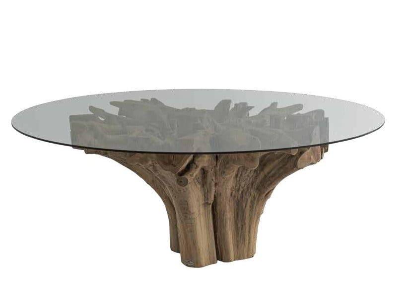 Tavoli Di Legno Per Salotto.Radice Tavolo Rotondo Collezione Radice By Il Giardino Di