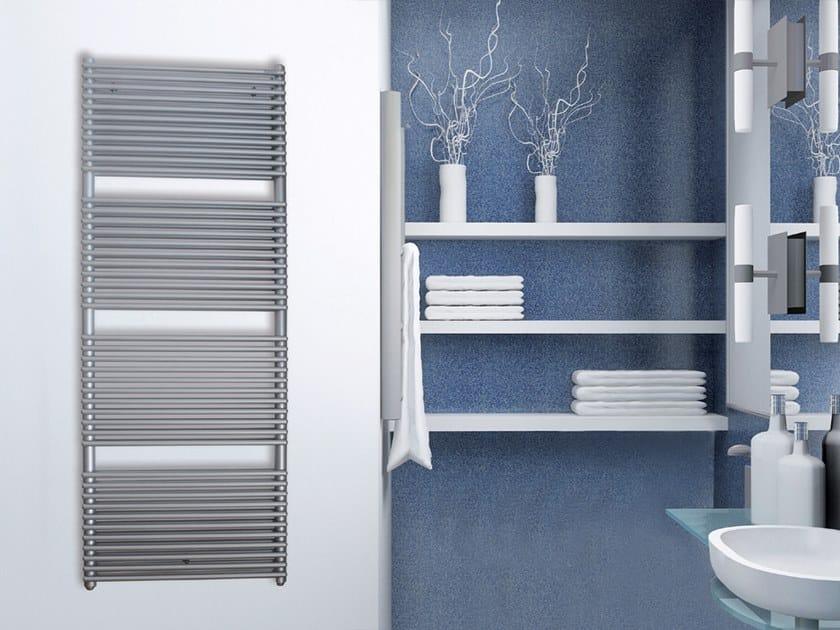 Vertical wall-mounted towel warmer RADIUS DOPPIO by XÒ by Metalform