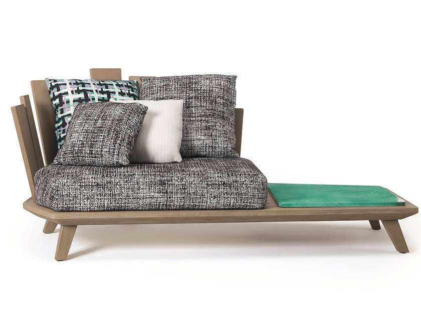 Teak garden daybed with coffee table RAFAEL by Ethimo