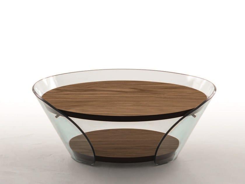 Table Basse Ronde En Bois Et Verre Raffaello By Tonin Casa