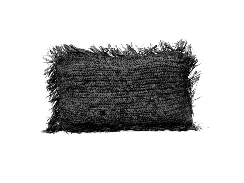 Rectangular raffia cushion RAFFIA | Rectangular cushion by Bazar Bizar