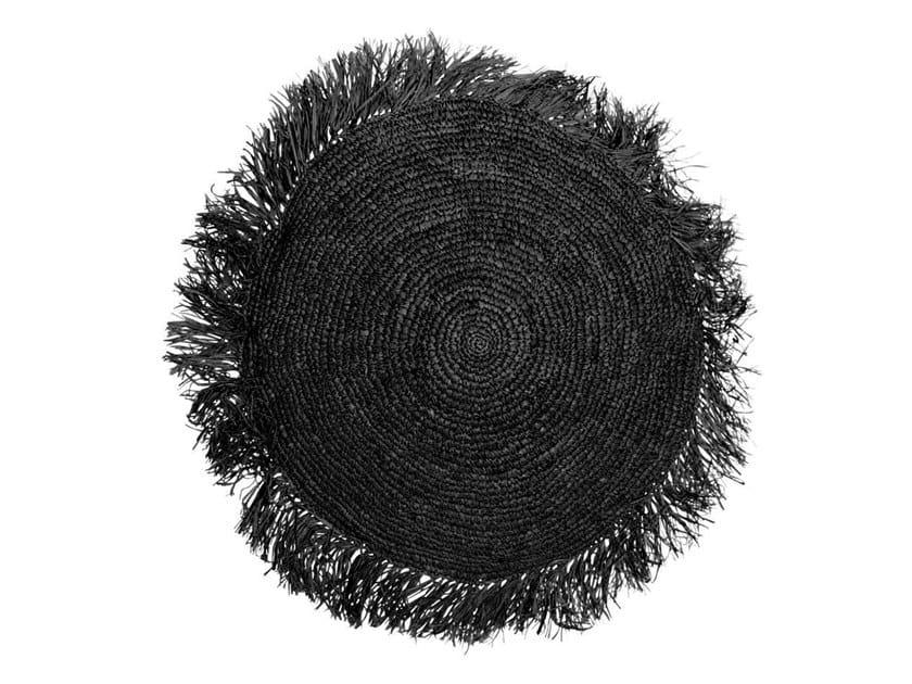 Round raffia cushion RAFFIA | Round cushion by Bazar Bizar