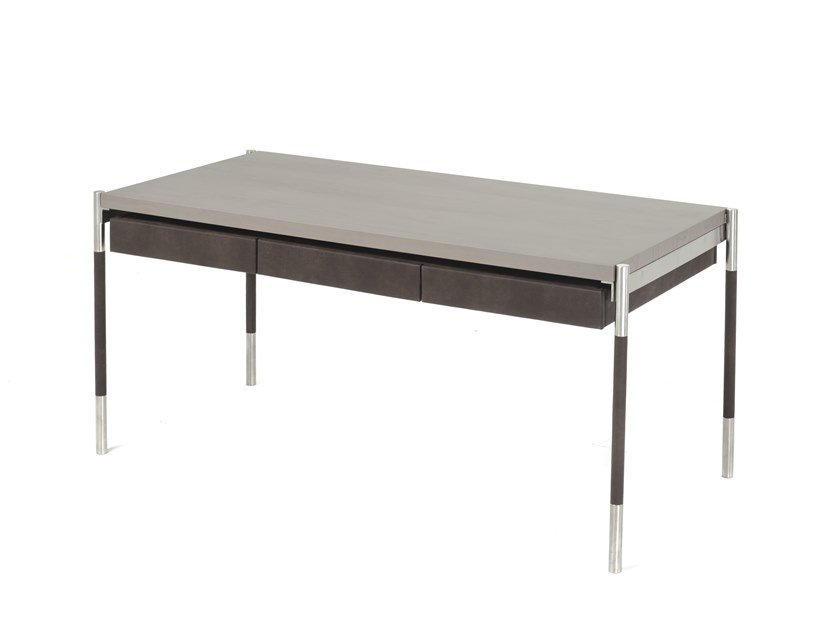 Rectangular wooden writing desk with drawers RAGION by Disegnopiù