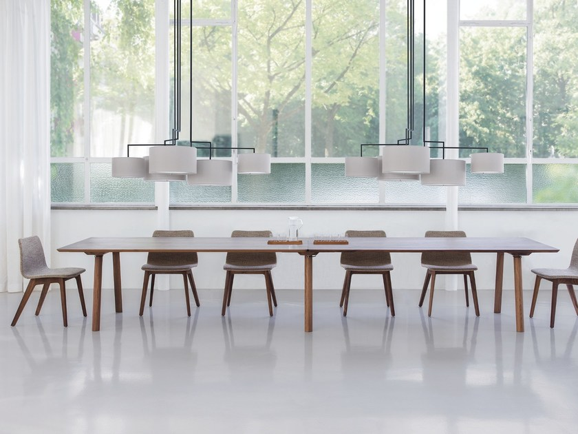 Rectangular wooden meeting table RAIL | Meeting table by ZEITRAUM