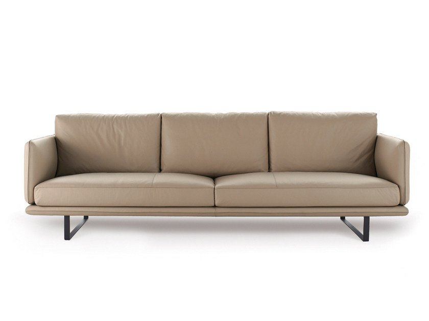 Upholstered Leather Sofa RAIL | Leather Sofa By Arketipo