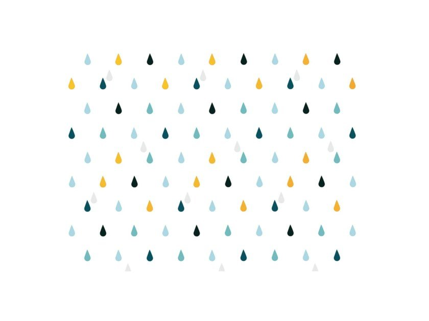 Motif wallpaper RAIN by Nidi