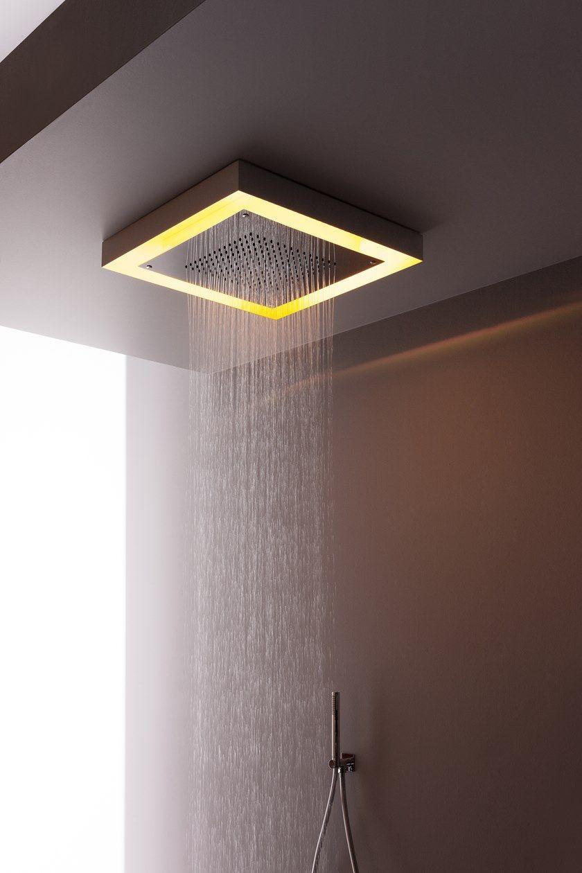Soffione Doccia A Pioggia A Soffitto In Acciaio Inox Modula Soffione Doccia A Pioggia Aquaelite