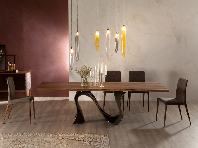 LED glass pendant lamp RAIN by Tonin Casa