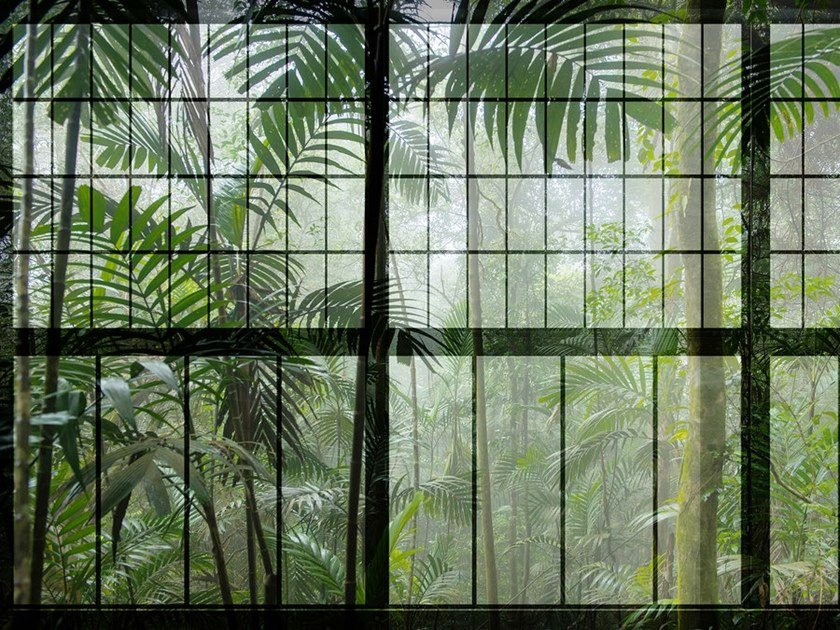 Digital printing wallpaper RAINFOREST by Architects Paper