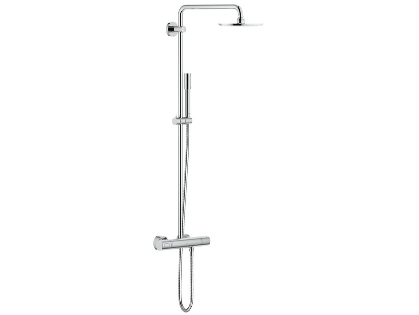 Wall-mounted thermostatic shower panel RAINSHOWER®   Wall-mounted shower panel by Grohe