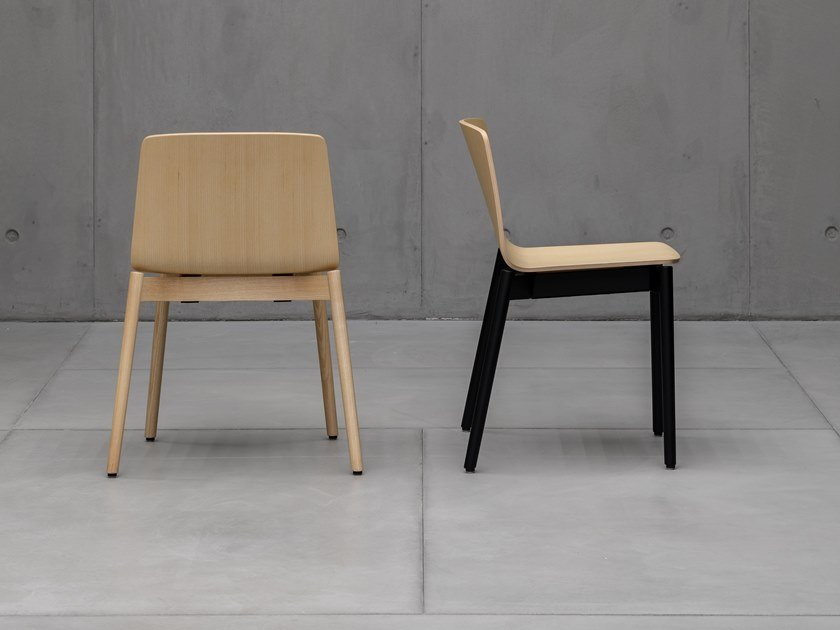 Stackable solid wood chair RAMA | Solid wood chair by Kristalia