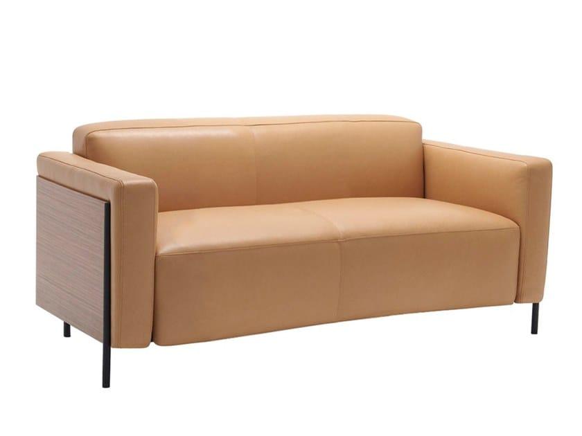 2-er Sofa aus Leder RAP SF1136 by Andreu World
